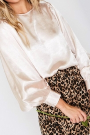 Vine & Love Gold Silk Blouse - Front cropped