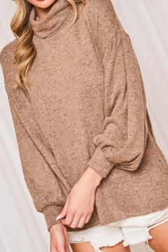 Shoptiques Product: Mocha Turtleneck Sweater
