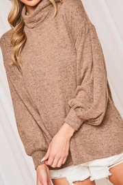 Vine & Love Mocha Turtleneck Sweater - Product Mini Image
