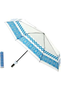 Shoptiques Product: Umbrella Blue Aztec