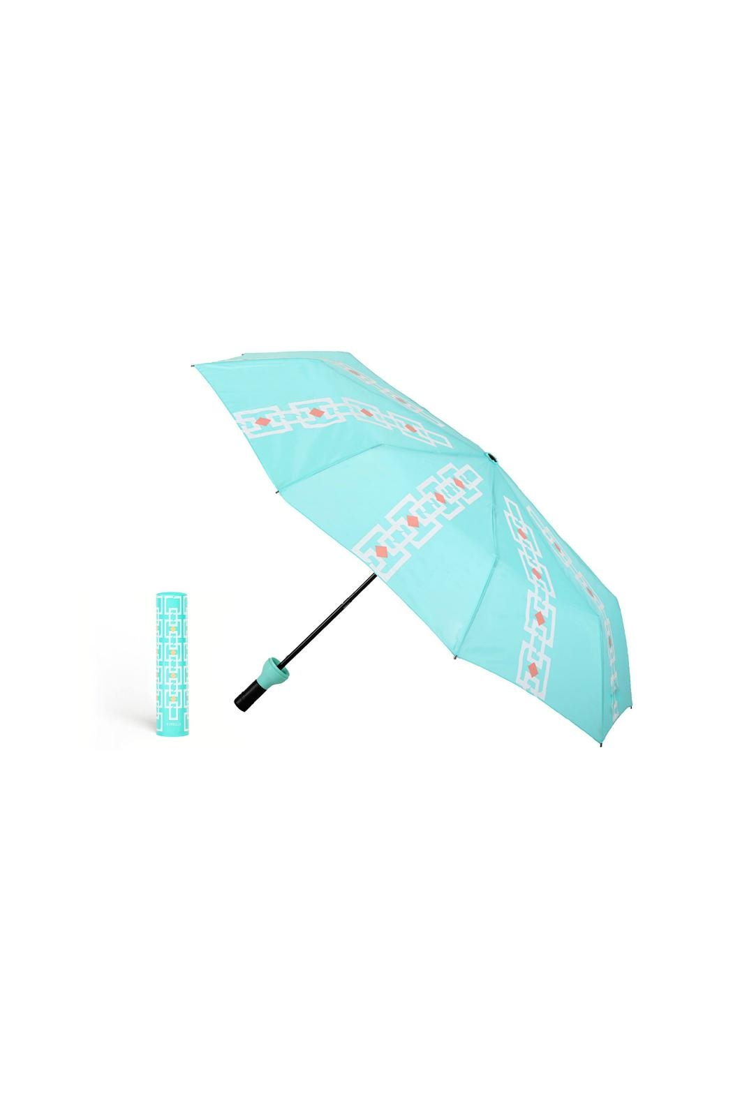 Vinrella Vintage Turquoise Umbrella - Side Cropped Image
