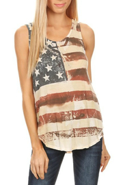 T-Party Fashion VINTAGE AMERICAN FLAG CROSSED BACK TOP - Product Mini Image