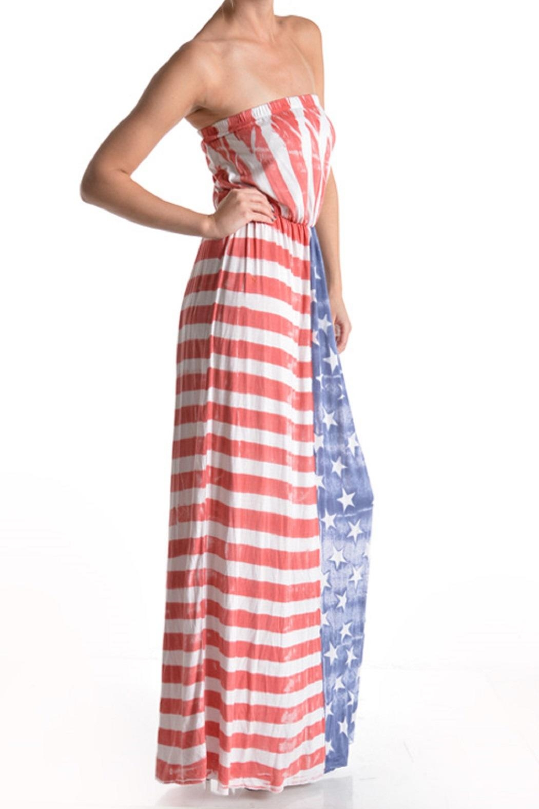 T-Party Fashion Vintage American Flag - Front Full Image