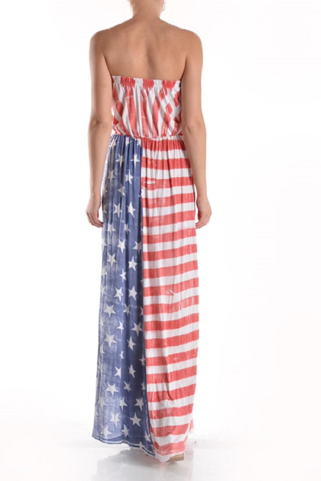 T-Party Fashion Vintage American Flag - Side Cropped Image