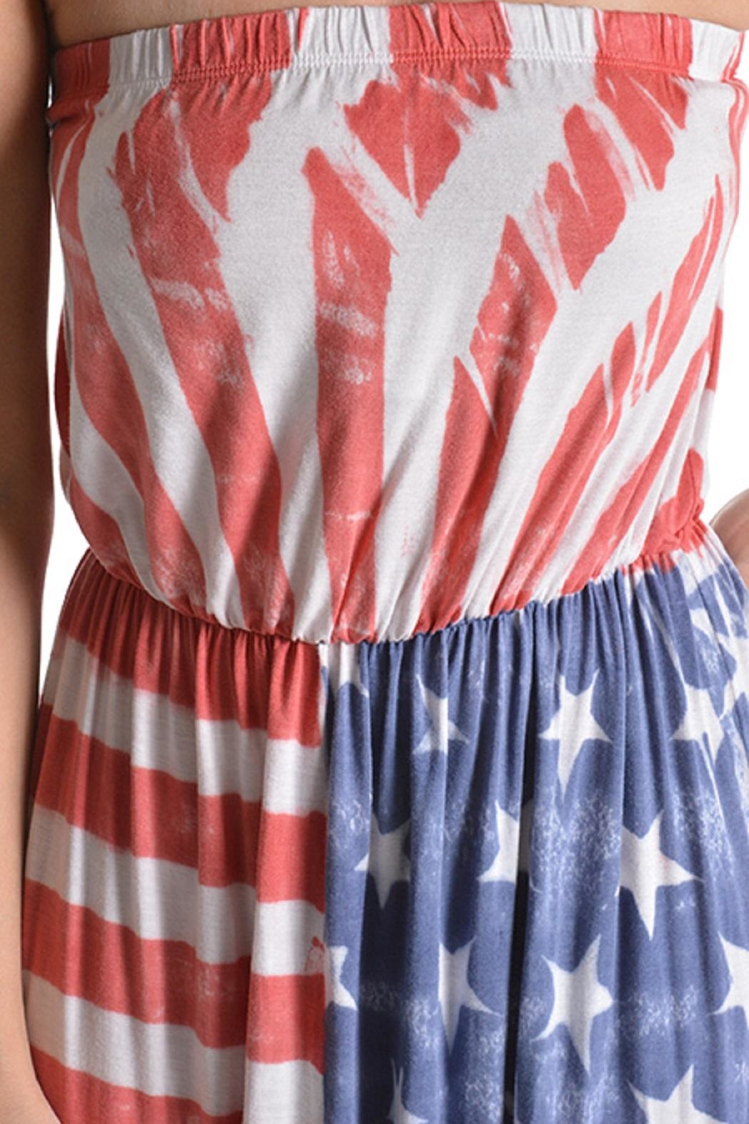 T-Party Fashion Vintage American Flag - Back Cropped Image