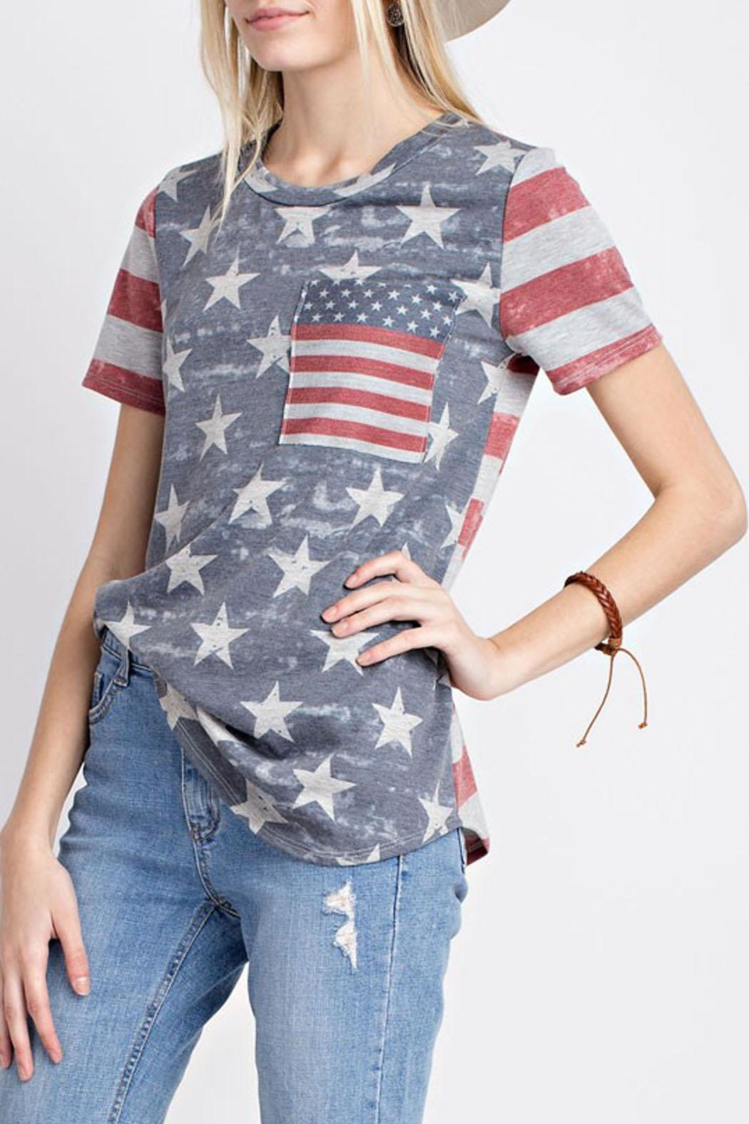 12pm by Mon Ami Vintage Americana Top - Front Full Image