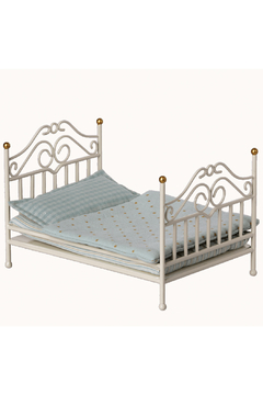 Maileg Vintage Bed Micro - Off-White - Product List Image