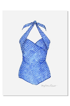 Sally Eckman Roberts Vintage Blue Swimsuit - Alternate List Image