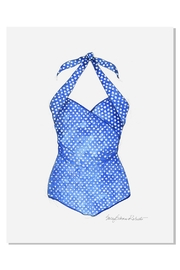 Sally Eckman Roberts Vintage Blue Swimsuit - Product Mini Image