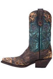 Dan Post Boot Company Vintage Bluebird Boots - Back cropped