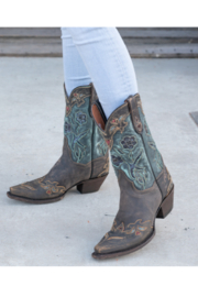 Dan Post Boot Company Vintage Bluebird Boots - Side cropped