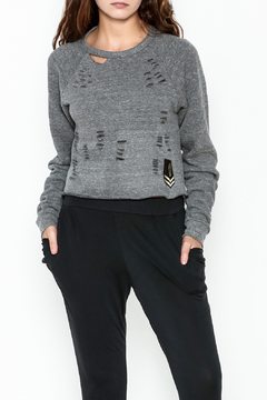 Vintage Brand Cropped Ripped Sweatshirt - Product List Image