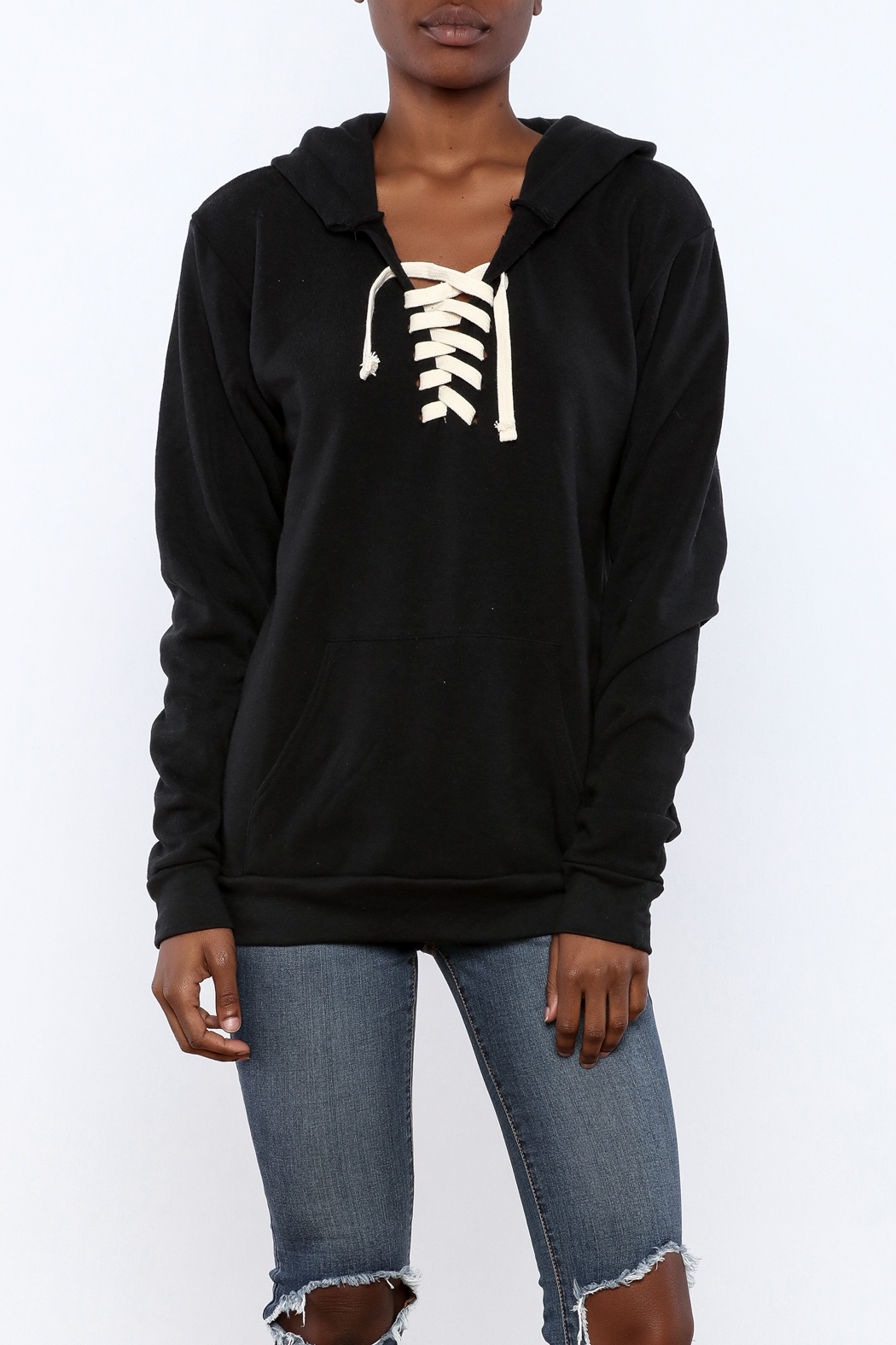 Vintage Brand Lace Up Pullover Hoodie from Long Island by Max ...