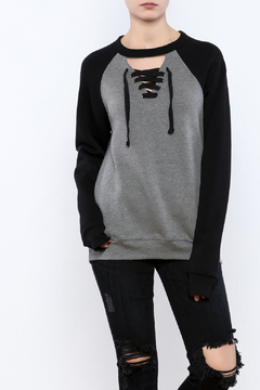 Vintage Brand Lace Up Pullover Raglan - Product List Image