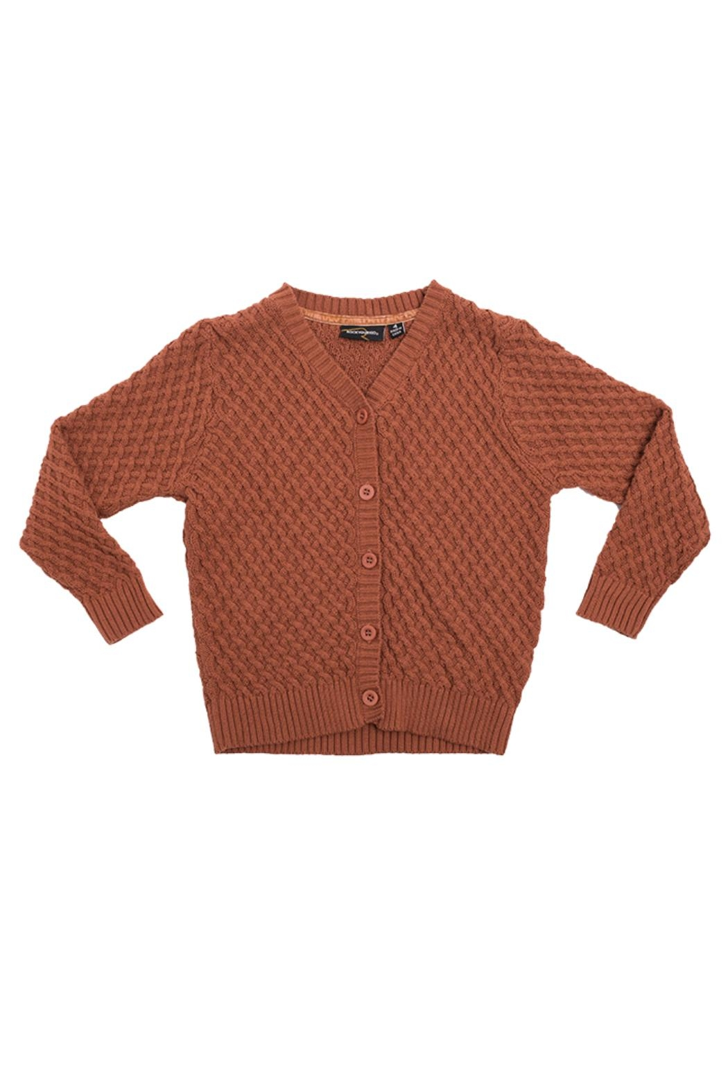 Rock Your Baby Vintage Brown Cardigan - Main Image