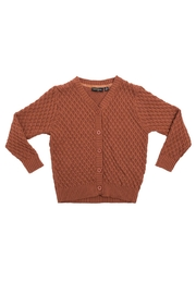 Rock Your Baby Vintage Brown Cardigan - Front cropped