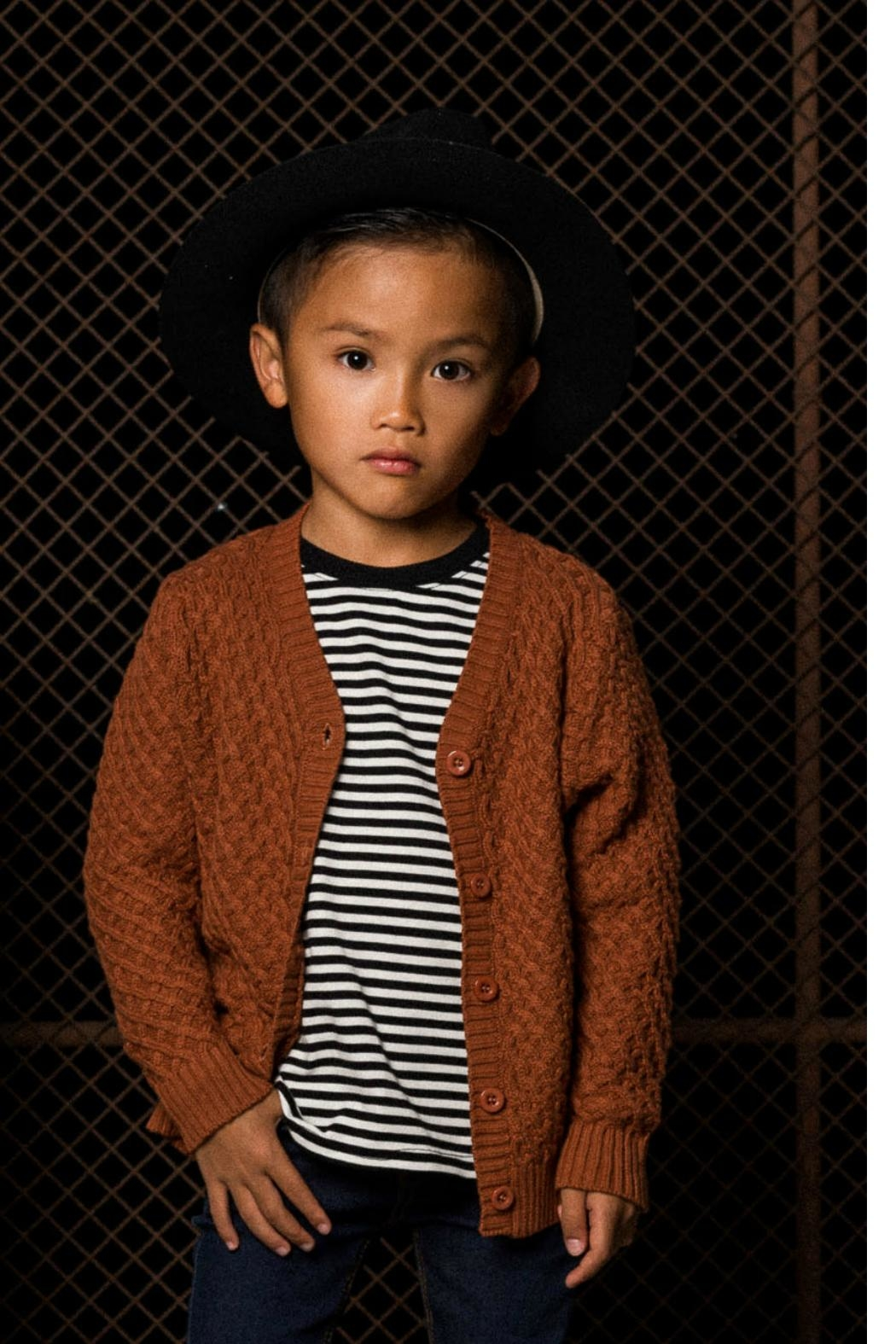 Rock Your Baby Vintage Brown Cardigan - Front Full Image