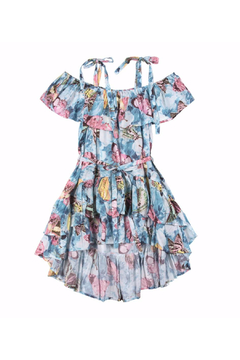 Shoptiques Product: Vintage Butterfly Frilled Off Shoulder Dress