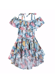Paper Wings Vintage Butterfly Frilled Off Shoulder Dress - Front cropped