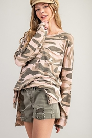 143 Story Vintage Camo Top with Chest Pocket - Product Mini Image
