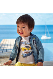 Mayoral Vintage Car Baby Shirt - Front full body