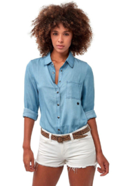 Astars Vintage Chambray Star Top - Front cropped