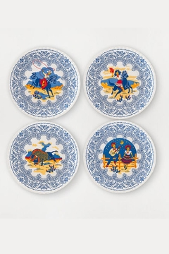 One Hundred 80 Degrees Vintage-Cowboy Melamine Dinner-Plate-Set - Alternate List Image