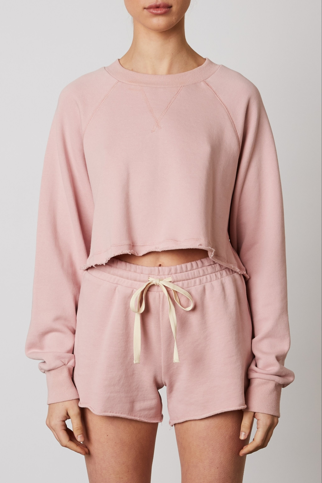 NIA Vintage Cropped Pullover - Main Image