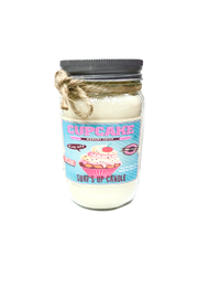 surfs up candle  Vintage Cupcake Candle - Large - Front cropped