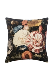 Ganz Colorful Floral Velvet Pillow - Front cropped