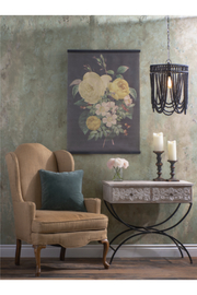 Ganz Vintage Floral Wall Hanging - Front full body