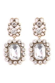 Riah Fashion Vintage-Framed Stone-Dangle Earrings - Product Mini Image