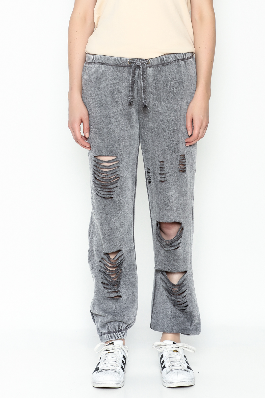 Vintage Havana Destroyed Sweatpant - Front Full Image