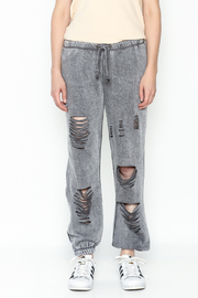 Vintage Havana Destroyed Sweatpant - Front full body