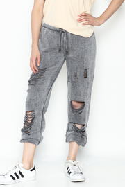 Vintage Havana Destroyed Sweatpant - Front cropped