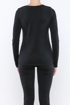 Shoptiques Product: Lace Up Ribbed Top
