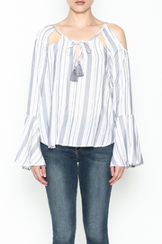 Vintage Havana Mykonos Stripe Top - Front full body