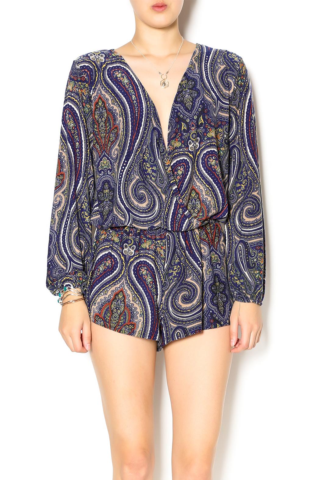 d0ba55d02cff Vintage Havana Paisley Print Romper from Texas by POE and Arrows ...
