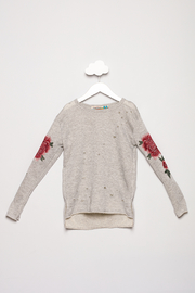 Vintage Havana Ripped Rose Applique Sweatshirt - Product Mini Image