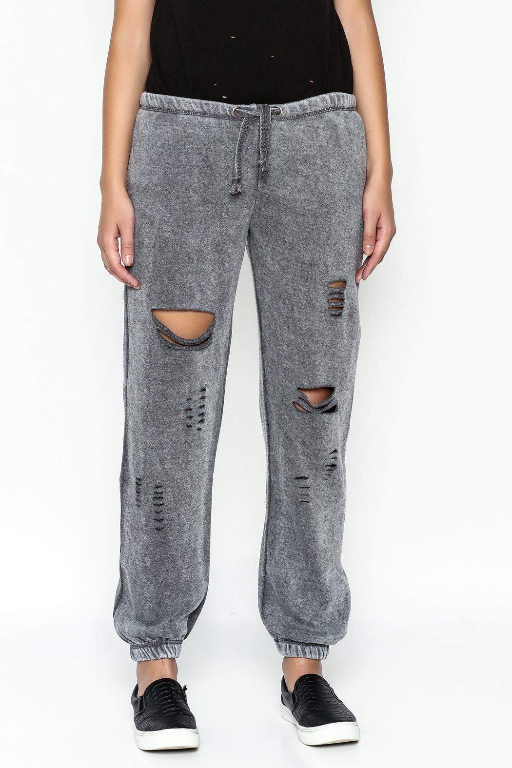Vintage Havana Ripped Sweatpant - Front Full Image