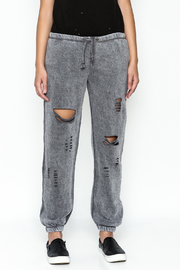 Vintage Havana Ripped Sweatpant - Front full body