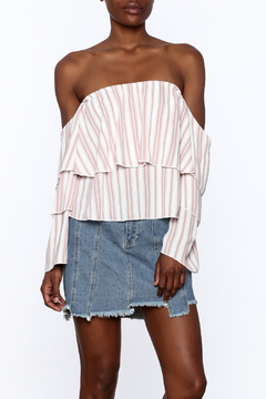Vintage Havana Tiered Off Shoulder Top - Product List Image