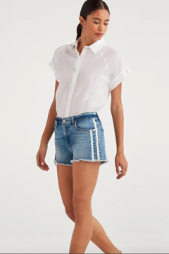 7 For all Mankind Vintage HW Denim Shorts - Product List Image