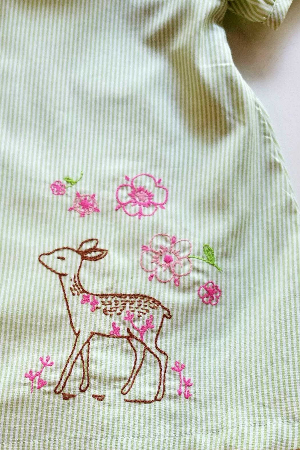 La Jenns Vintage-Inspired Deer-Embroidered Dress - Side Cropped Image