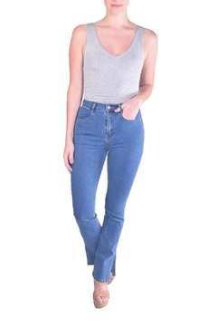 Honey Punch Vintage-Inspired Flare Jeans - Product List Image