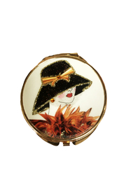Private Label Vintage Inspired Lady Mirror Compact - Product Mini Image