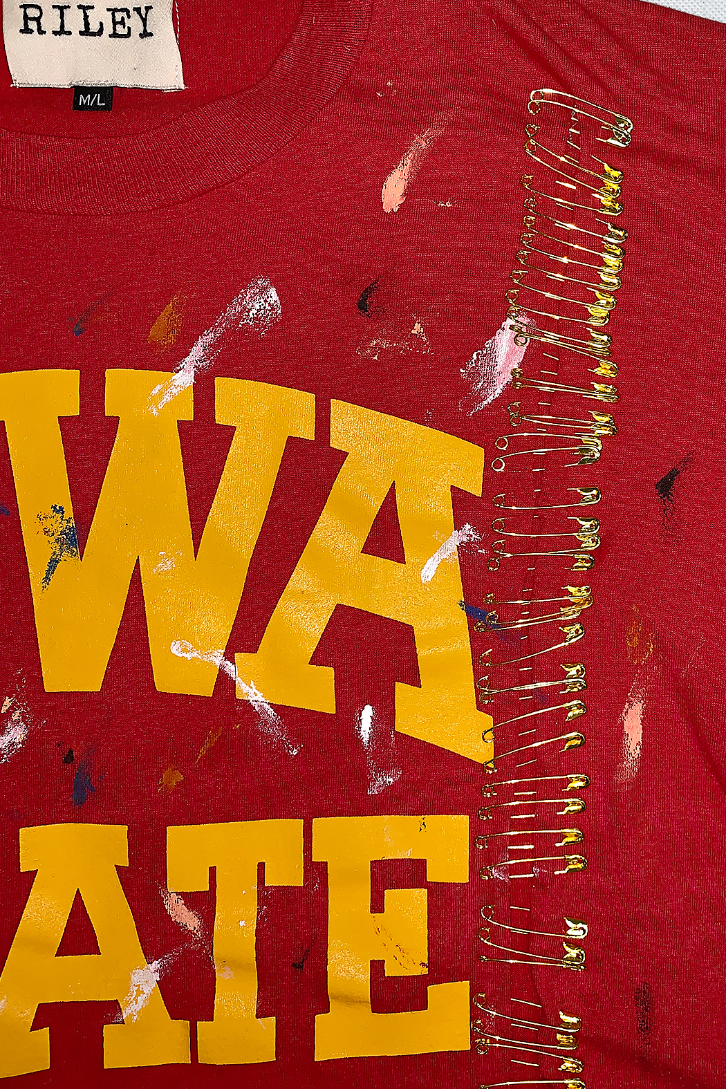 Riley  Vintage Iowa Collegiate Cropped Tee - Side Cropped Image