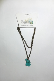 Gleeful Peacock Vintage Michigan Necklace - Front cropped