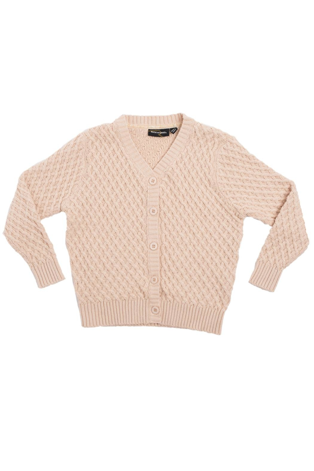 Rock Your Baby Vintage Oatmeal Cardigan - Main Image