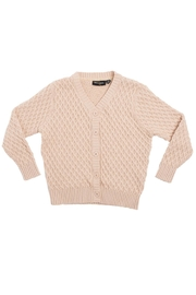 Rock Your Baby Vintage Oatmeal Cardigan - Front cropped